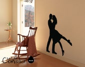 """Dancers Wall Decal - Dancers Wall Sticker - 52"""" high and 45"""" wide - W027"""
