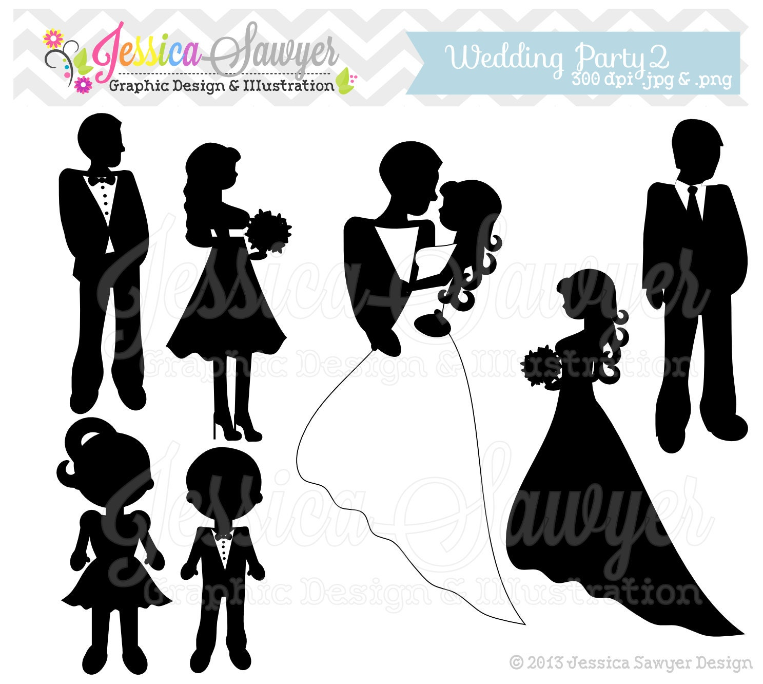 INSTANT DOWNLOAD wedding silhouette clipart silhouette