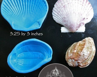 Set of two large silicone shell molds