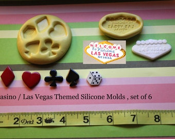 Las Vegas Themed Silicone Mold By Waybeyondcakes On Etsy