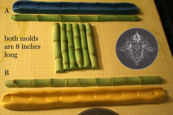 10 dollars off  Two detailed Bamboo silicone molds Limited supply