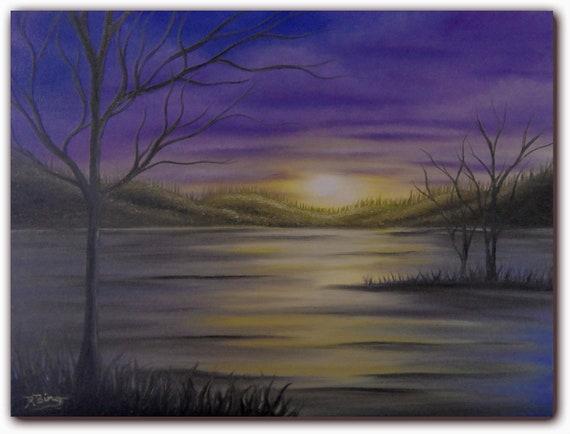 Dark Landscape Painting