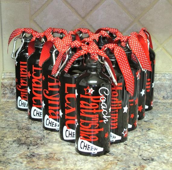 Personalized Aluminum Water Bottle Cheer Cheerleaders