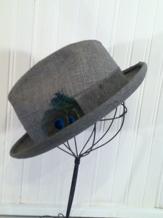 RESERVED FOR KATE Vintage Hat Stand Display, Industrial Chic, Shabby Chic, Wire Design