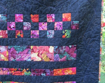 Havest Rows:  Fall Quilt, Throw, Autumn Quilt