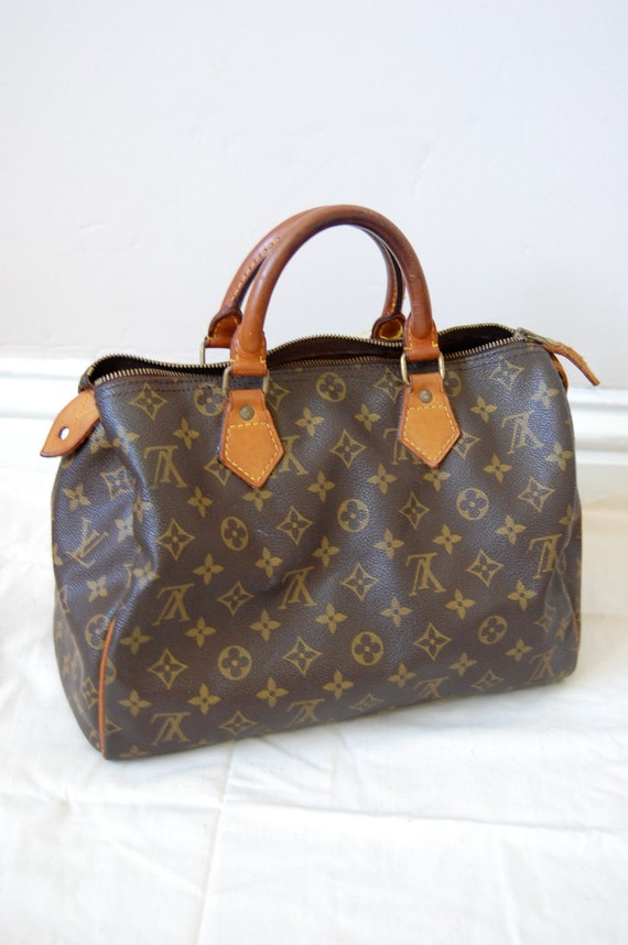 Vintage Authentic Louis Vuitton Speedy 30 Handbag Purse Tote Shoulder Bag LV
