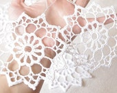 Crochet snowflakes Christmas ornaments decorations Cotton embellishment White snowflakes