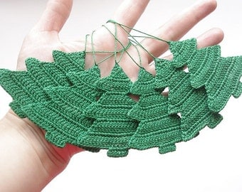 Christmas ornament Crochet decorations Christmas tree Cotton crochet Christmas trees
