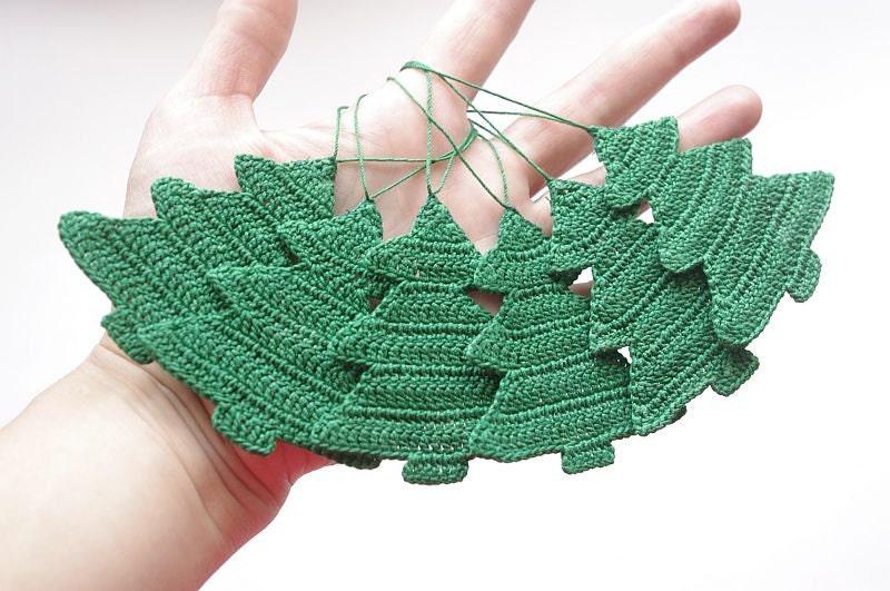 Christmas ornament Crochet decorations Christmas tree Cotton