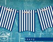 INSTANT DOWNLOAD navy banner printables, birthday banner, boy baby shower banner, navy party printables, banners, 1st birthday boy banner