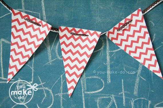 INSTANT DOWNLOAD 1st birthday boy banner baby shower banner red birthday banner red party printables red banners red chevron party red bday
