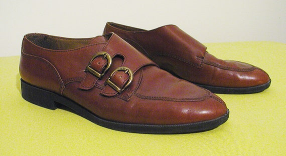 The PERFECT BUCKLE BROGUES, Leather Cognac Oxfords with Strap, 9.5 m by Nine West