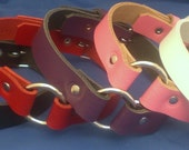 Leather O-Ring Choker Necklace 20mm Choice of Colours Hand Made Real Leather Goth Punk