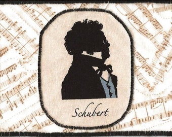 Schubert Fabric Postcard for the Music Lover