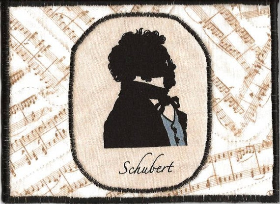 Schubert Fabric Postcard for the Music Lover