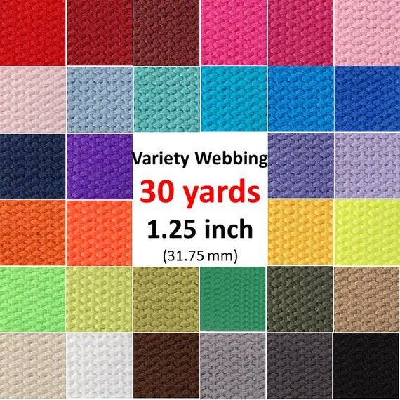 Cotton Webbing 30 yards You Pick Colors Key Fobs Belts Purse Bag Straps Leash