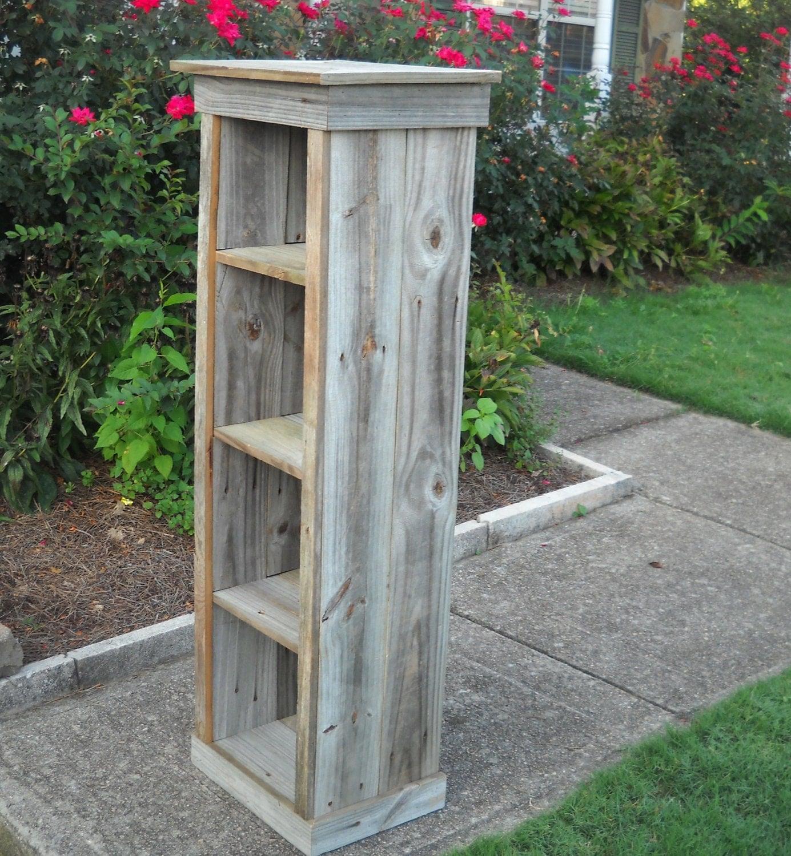 Bookcase barnwood reclaimed wood