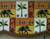 Fun Elephant Valance for Standard Window
