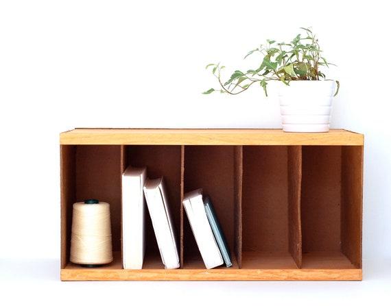 Vintage Wood Paper Sorter- Desktop Organizer