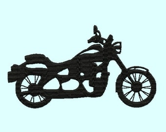 Motorcycle Silhouette Embroidery Designs 3 sizes INSTANT DOWNLOAD