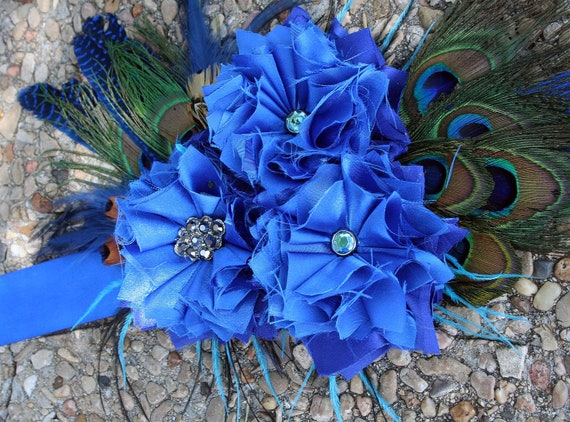 Blue Peacock Maternity Sash - Gorgeous - Photography Prop - Boy theme