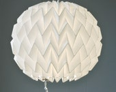 BUBBLE: Origami Paper Lamp Shade - WHITE / FiberStore by Fiber Lab