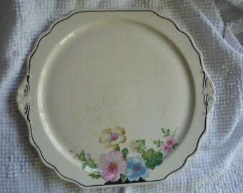 Lovely Shabby Vintage Handled Platter