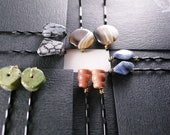 Gemstone Bobby Pins - Gift for Her, Bridesmaids Gifts, Stocking Stuffers, FREE SHIPPING, Gifts for Her, Gifts under USD10