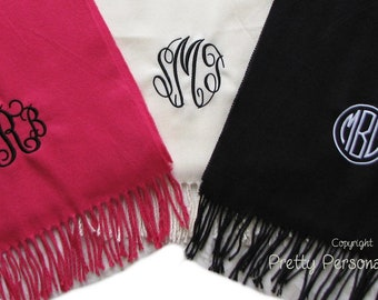 Scarf  -  Personalized Scarves -   34 colors to choose from