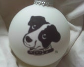 Hand Painted Jack Russell on a Christmas Ball
