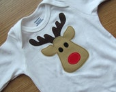 Christmas Reindeer Onesie - Ready to Ship Size 6-9 Month