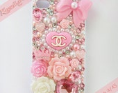 Kawaii x Couture Bows, Roses, Crown, & Chanel Decoden iPhone 4/4S Case