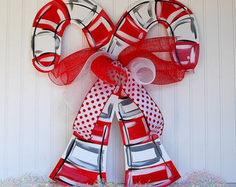 Candy Cane Door Hanger | Candy Cane Wreath | Candy Cane Decor | Christmas Party | Christmas Decor | Christmas Door Hanger