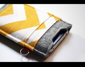 Iphone case sleeve - 100% merino wool felt 3mm & cotton