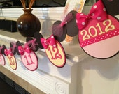 Minnie Mouse Inspired 1st Year Banner - 12 Month Birthday Banner - Picture Banner