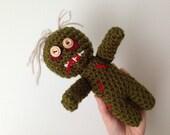 Zombie crochet doll Halloween sale