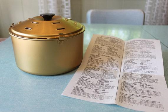 Vintage Rival Crock Pot Bread N Cake Bake Pan Great