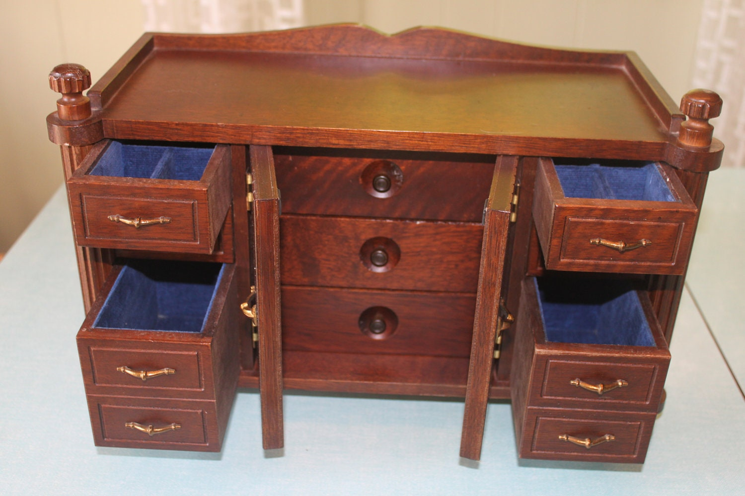 Large solid wood jewelry box chest armoire by speckledchicken for Solid wood jewelry chest