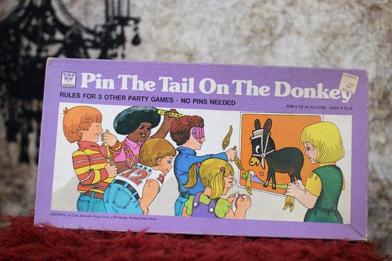 Vintage Pin the Tail on the Donkey (1975)
