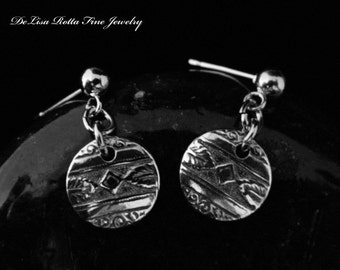 Recycled Silver, Eco Friendly, Southwestern Style, Earrings