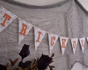 Halloween Banner Trick or Treat - Halloween Decor - Halloween Party Home Decor