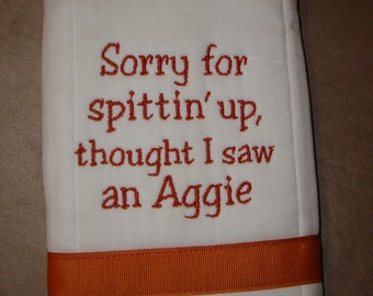 Longhorn Burp Cloth