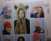 McCall's Fashion Accessories M6448 Children's/Girls Hats, Cowl, and Mittens