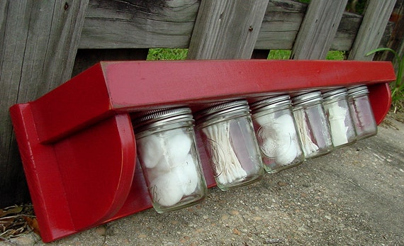 The Original Jargonizer Storage Shelf- 6 Jars Attached