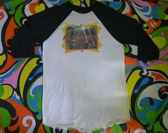 vintage 1970s Aerosmith shirt baseball jersey quarter sleeve 70s Hard Rock Hair Steven Tyler Raglan shirt