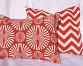 Red and White Pillow Covers