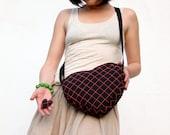 Heart Bag Purse, Black Bag, Neon Pink, Cute Bag, Hipster, Kawaii, Geek, Small Cotton Bag, Cross Body Bag, Party Bag, Urban Fashion