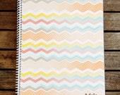 Personalized Zig Zag Chevron Notebook Journal
