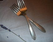 Antique Silverplate Forks (Set of 2)