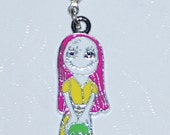 Halloween Nightmare Before Christmas Sally Enamel Clip Charm, zipper pull, backpack, cell phone, purse clip, bracelet, necklace etc